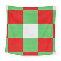 Fabric Christmas Colors Bright Square Tapestry (large) by Nexatart