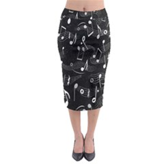 Fabric Cloth Textile Clothing Midi Pencil Skirt by Nexatart