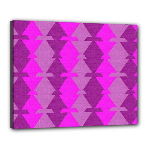 Fabric Textile Design Purple Pink Canvas 20  X 16  by Nexatart