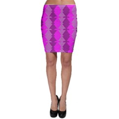 Fabric Textile Design Purple Pink Bodycon Skirt