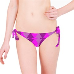 Fabric Textile Design Purple Pink Bikini Bottom by Nexatart
