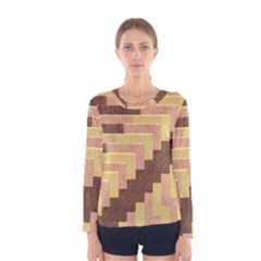 Fabric Textile Tiered Fashion Women s Long Sleeve Tee by Nexatart