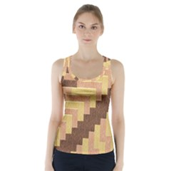 Fabric Textile Tiered Fashion Racer Back Sports Top