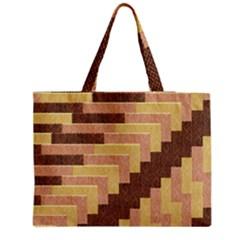 Fabric Textile Tiered Fashion Medium Zipper Tote Bag