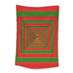 Fabric Texture 3d Geometric Vortex Small Tapestry by Nexatart