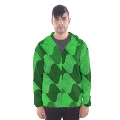 Fabric Textile Texture Surface Hooded Wind Breaker (men) by Nexatart