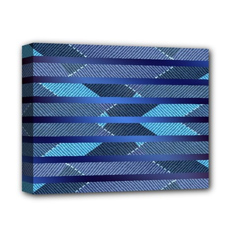 Fabric Texture Alternate Direction Deluxe Canvas 14  X 11  by Nexatart
