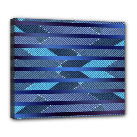 Fabric Texture Alternate Direction Deluxe Canvas 24  X 20