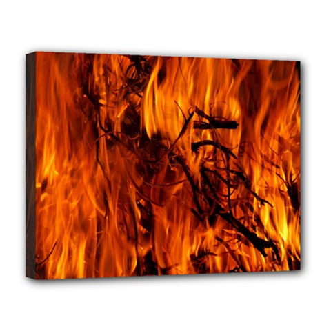 Fire Easter Easter Fire Flame Canvas 14  X 11  by Nexatart