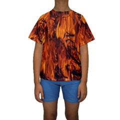 Fire Easter Easter Fire Flame Kids  Short Sleeve Swimwear