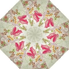 Floral Pattern Background Hook Handle Umbrellas (medium)
