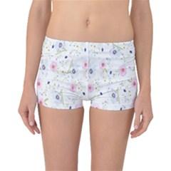 Floral Pattern Background  Boyleg Bikini Bottoms