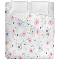 Floral Pattern Background  Duvet Cover Double Side (california King Size) by Nexatart