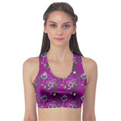 Flower Pattern Sports Bra