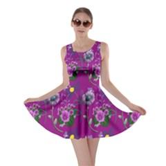 Flower Pattern Skater Dress