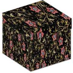 Floral Pattern Background Storage Stool 12   by Nexatart