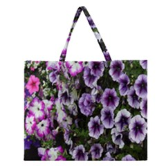 Flowers Blossom Bloom Plant Nature Zipper Large Tote Bag by Nexatart