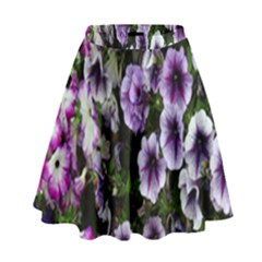 Flowers Blossom Bloom Plant Nature High Waist Skirt by Nexatart