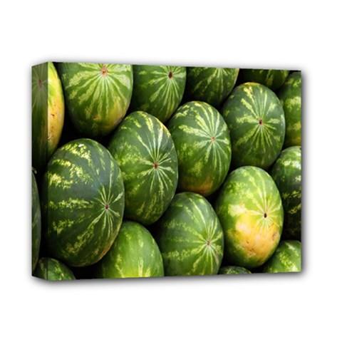 Food Summer Pattern Green Watermelon Deluxe Canvas 14  X 11