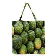 Food Summer Pattern Green Watermelon Grocery Tote Bag by Nexatart
