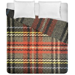 Fabric Texture Tartan Color Duvet Cover Double Side (california King Size) by Nexatart