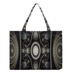 Fractal Beige Blue Abstract Medium Tote Bag by Nexatart