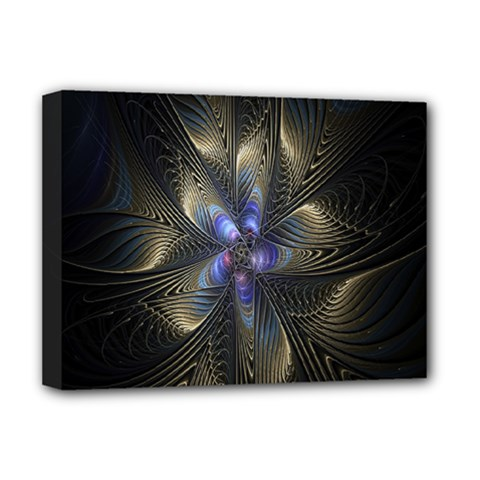 Fractal Blue Abstract Fractal Art Deluxe Canvas 16  X 12