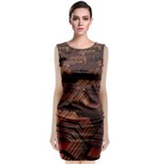 Fractal 3d Render Futuristic Classic Sleeveless Midi Dress