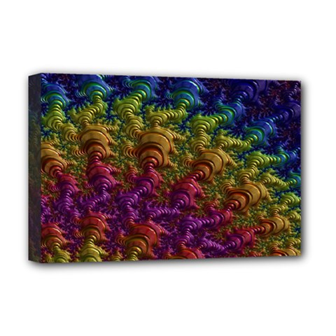 Fractal Art Design Colorful Deluxe Canvas 18  X 12