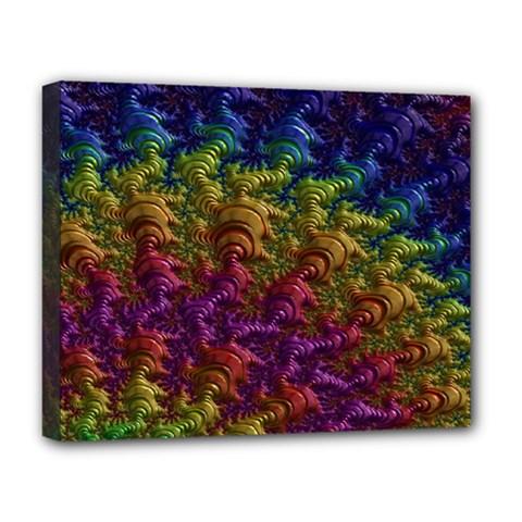 Fractal Art Design Colorful Deluxe Canvas 20  X 16