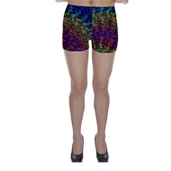 Fractal Art Design Colorful Skinny Shorts