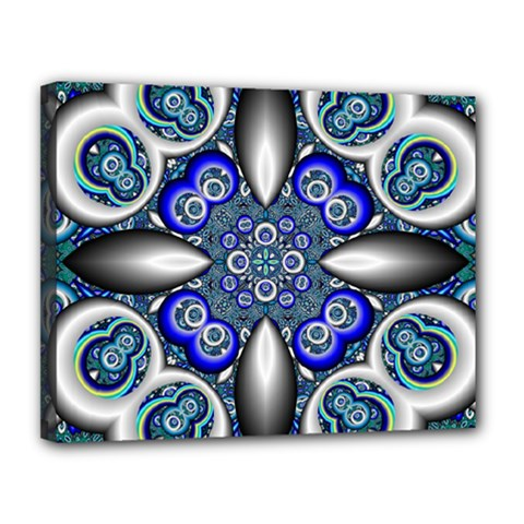 Fractal Cathedral Pattern Mosaic Canvas 14  X 11