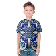 Fractal Cathedral Pattern Mosaic Kids  Cotton Tee
