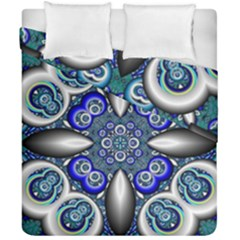 Fractal Cathedral Pattern Mosaic Duvet Cover Double Side (california King Size) by Nexatart