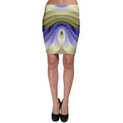 Fractal Eye Fantasy Digital Bodycon Skirt
