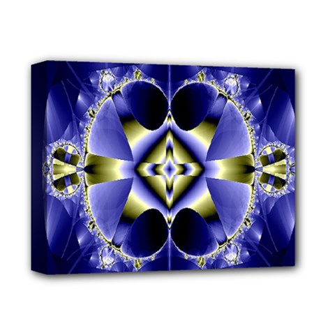 Fractal Fantasy Blue Beauty Deluxe Canvas 14  X 11