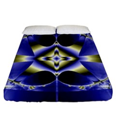 Fractal Fantasy Blue Beauty Fitted Sheet (king Size) by Nexatart