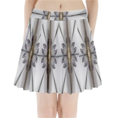 Fractal Fleur Elegance Flower Pleated Mini Skirt by Nexatart
