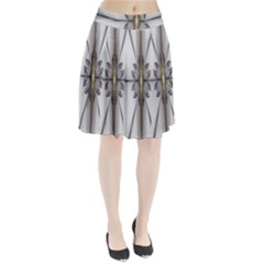 Fractal Fleur Elegance Flower Pleated Skirt by Nexatart
