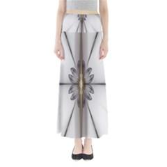 Fractal Fleur Elegance Flower Maxi Skirts by Nexatart