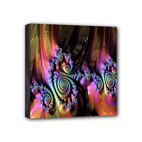 Fractal Colorful Background Mini Canvas 4  X 4