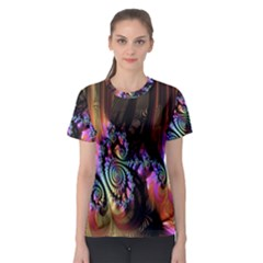 Fractal Colorful Background Women s Sport Mesh Tee