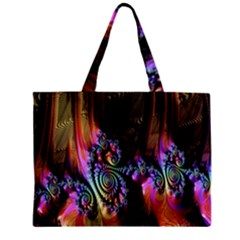 Fractal Colorful Background Zipper Mini Tote Bag