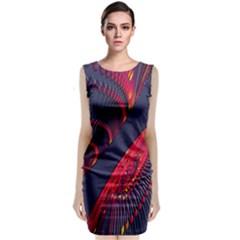 Fractal Art Digital Art Classic Sleeveless Midi Dress