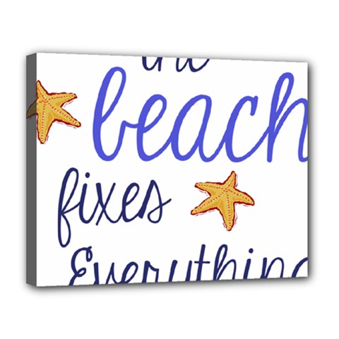 The Beach Fixes Everything Canvas 14  X 11  by OneStopGiftShop