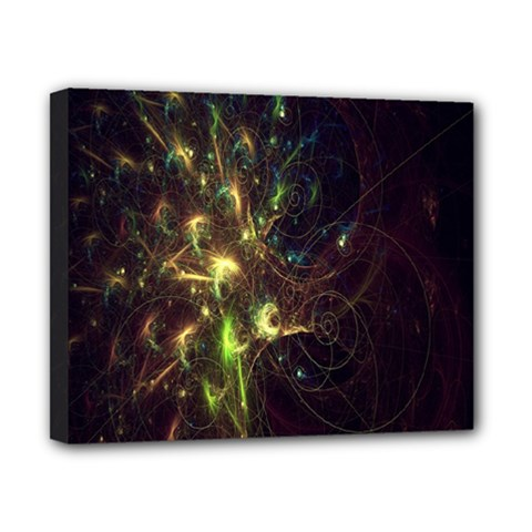 Fractal Flame Light Energy Canvas 10  X 8  by Nexatart