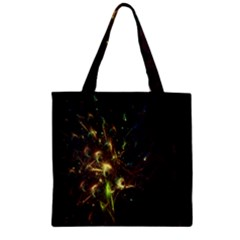 Fractal Flame Light Energy Zipper Grocery Tote Bag by Nexatart