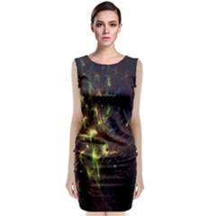 Fractal Flame Light Energy Classic Sleeveless Midi Dress