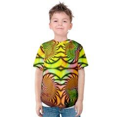 Fractals Ball About Abstract Kids  Cotton Tee