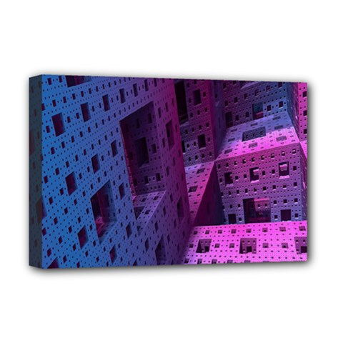 Fractals Geometry Graphic Deluxe Canvas 18  X 12